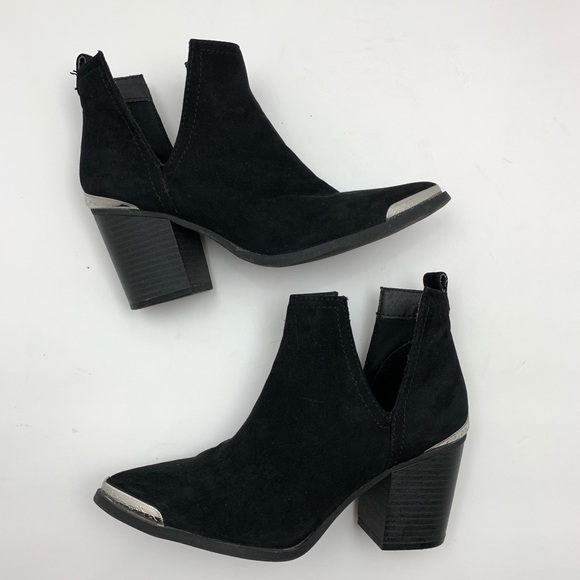 Mossimo Supply Co. Shoes - Mossimo Western Cowboy Black Suede Ankle Boots 6